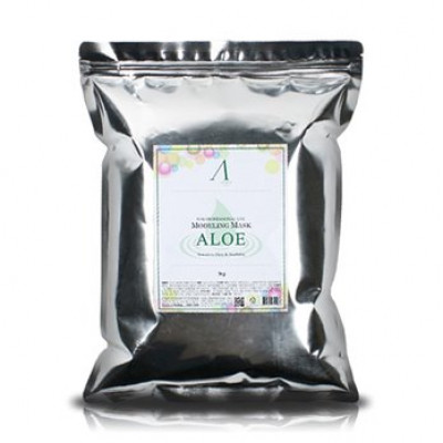 Маска альгинатная с алоэ успокаивающая Anskin Aloe Modeling Mask 1 кг: фото