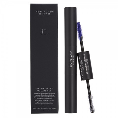 Двусторонний сет: основа под тушь для объема и тушь для объема иссиня-черная RevitaLash Cosmetics Double-Ended Volumizing Primer And Mascara Raven 5,5мл + 5,5мл: фото