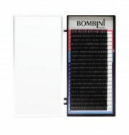 Ресницы Bombini Черные, 20 линий, изгиб С – MIX 8-14 0.12: фото