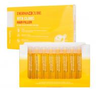 Витаминизирующий филлер для волос с витаминами FarmStay DERMA СUBE Vita Clinic Hair Filler 13 мл*10 шт: фото